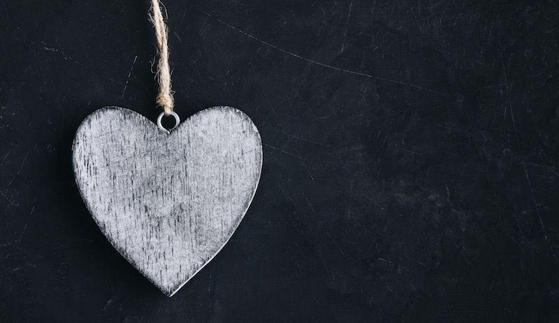 adorno en forma de corazón