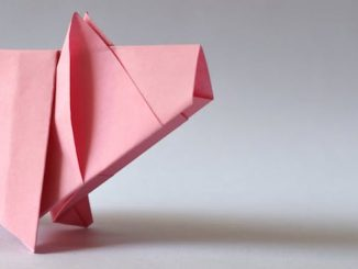 carta inflable de Origami