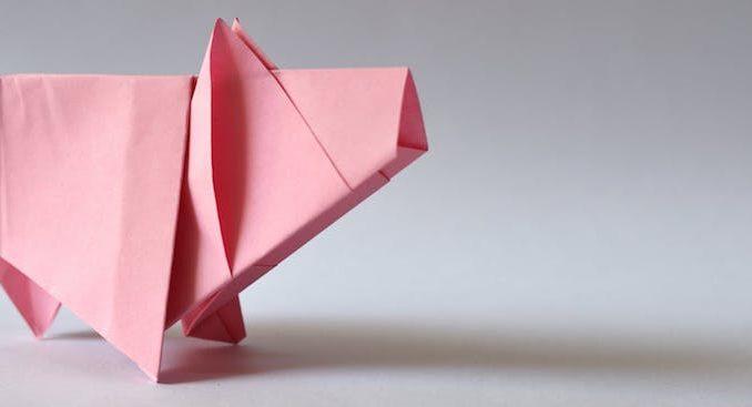 carta inflable de Origami