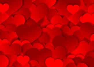 Cojines con forma de corazón