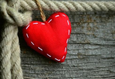 Almohadones de corazón