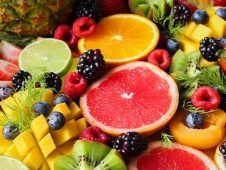 Frutas en papel maché